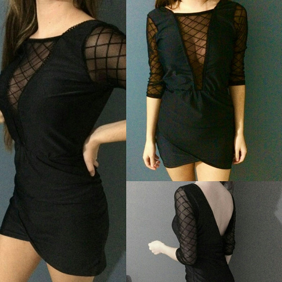 Liquidación!! Vestido Negro Nuevo