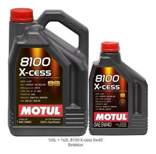 Aceite Motul 8100 Sintético 5w40 Xcess 7l 5 + 2 Nafta Diésel