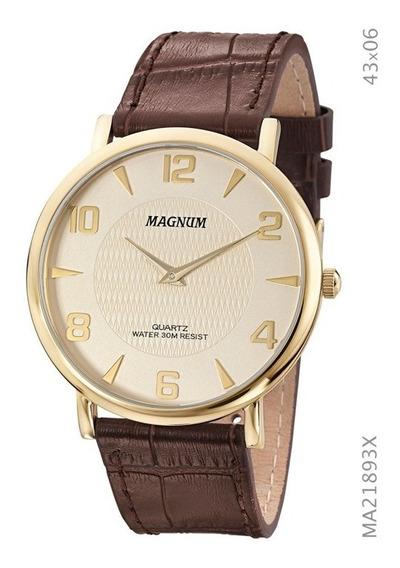 Relógio Masculino Magnum Social Slim Ma21893x Dourado
