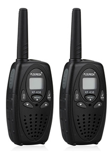 Floureon 8 Canales Walkie Talkies De Dos Vías 3km Negro