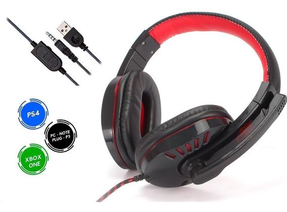 Fone De Ouvido Headset P2/p3, Funciona Pc Ps4 Celular Xbox