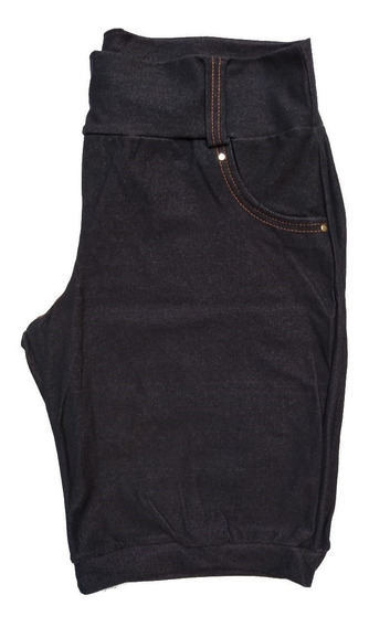Kit Com 5 Bermudas Feminino Cotom Plus Size 44 Ao 54