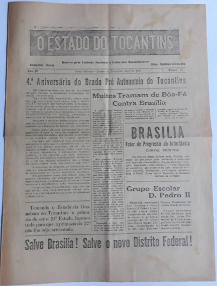 Antigo Jornal O Estado De Tocantins Abril De 1960 Raridade