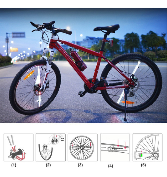 2 Barras 128 Led Configurable Pc Rin Rueda Bicicleta Proyec