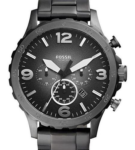 Relógio Fossil Masculino Preto Mostrador Preto Jr1437/4pn