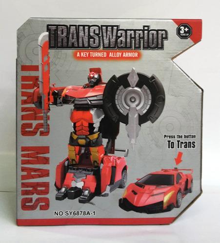 Transformers Robot A Carro De Metal Transwarrior Aprox. 13cm