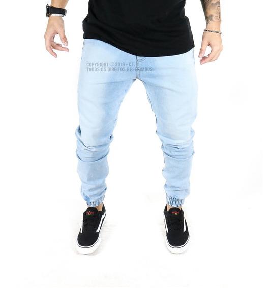 Calça Jeans Masculina Jogger Sarja Elástico Lycra Promoção