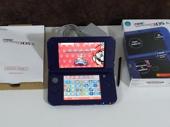 New Nintendo 3ds Xl Lindíssimo + 32gb Lotado De Jogos 3d