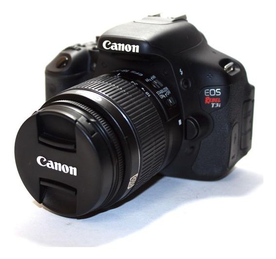 Câmera Canon Eos Rebel T3i Com Lente 18-55mm Seminova