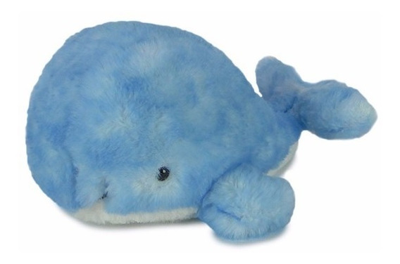 Baleia De Pelúcia Azul Pequena - Fundo Do Mar