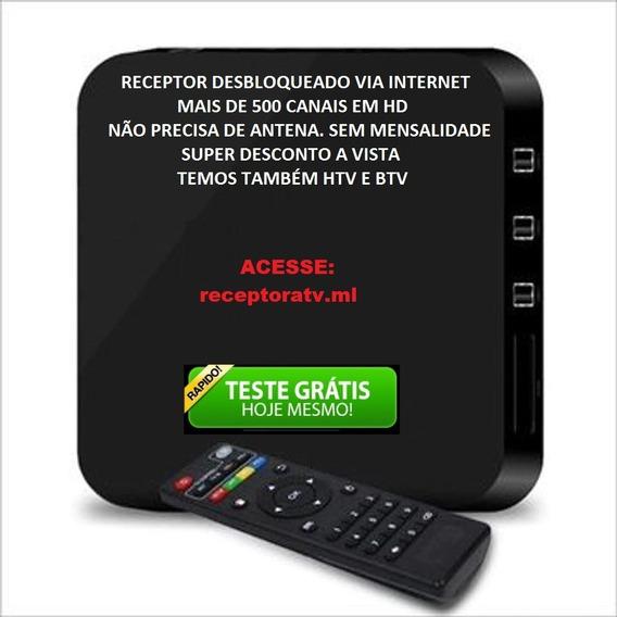 Aparelho Receptor Tv Box 4k Wi Fi Android Sem Mensalidades