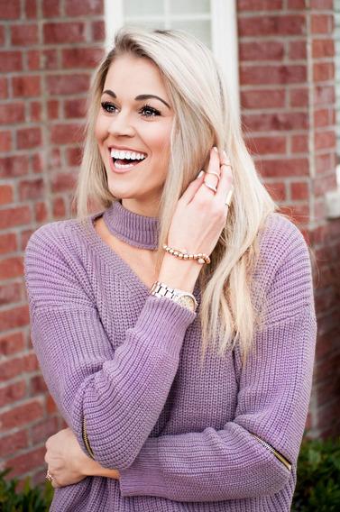 Sweater Lila Cierres Figuera Indumentaria