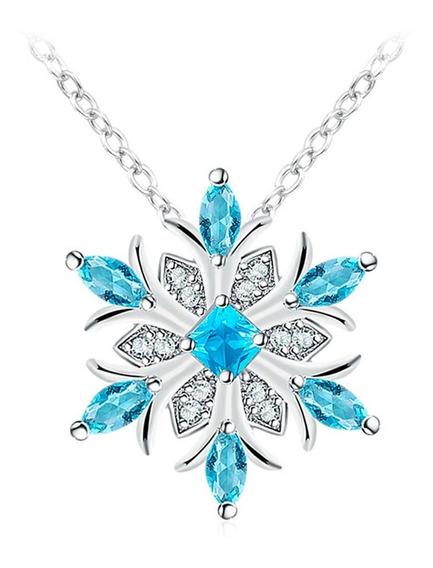 Regalo Collar Princesa Elsa Corazón Amor Frozen Swarovski El