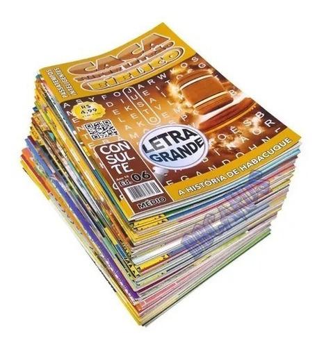 Imagem 1 de 1 de Caça Palavras Bíblicos - Kit Com 10 Unidades, Sem Repetições