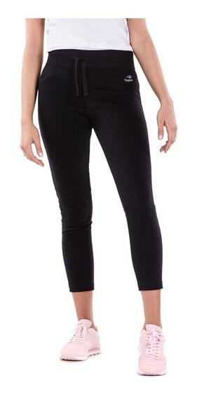 Pantalón De Mujer Topper Básicos Chupín Capri Black