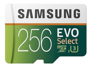 Samsung 256 Gb Evo Select Micro Sd Cartão De Memória Hd