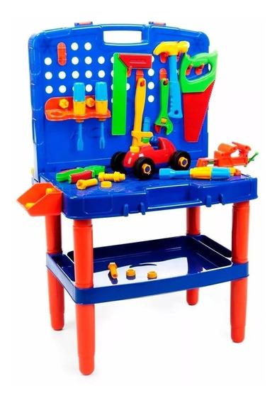 Bancada Maleta Ferramenta Brinquedo Menino Infantil Didático