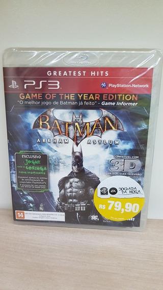 Batman Arkham Asylum Ps3 Novo E Lacrado De Fábrica