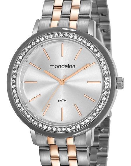 Relógio Mondaine Feminino Prata / Rose 53760lpmvge2