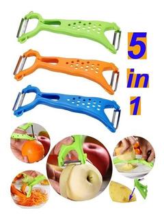 Set De 2 Pelapapas Pelafrutas 2 En 1 Doble Función Chef