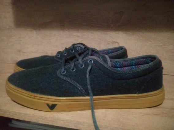 Tenis Vibe Shoes Cinza Escuro Com Solado Marrom