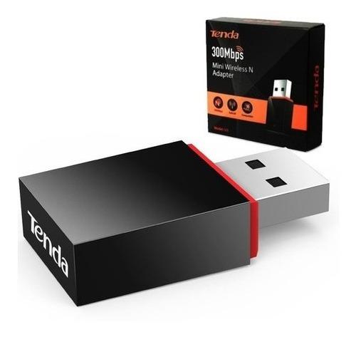 Imagen 1 de 4 de Mini Adaptador Usb Wifi 300 Mbps Portátil Pc Tenda U3