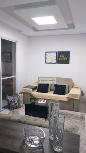 Apartamento Com 3 Dormitórios 2 Suítes À Venda No Condomínio Parque Clube, 91 M² Por R$ 660.000 - Vila Augusta - Guarulhos/sp - Ap0214
