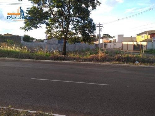 Imagem 1 de 5 de Terreno À Venda, 678 M² Por R$ 550.000,00 - Parque Brasília 2ª Etapa - Anápolis/go - Te0603