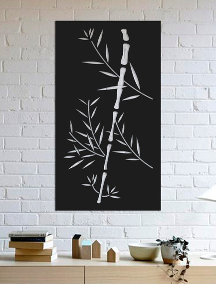 Quadro Decorativo Parede Painel Bambu 90cm