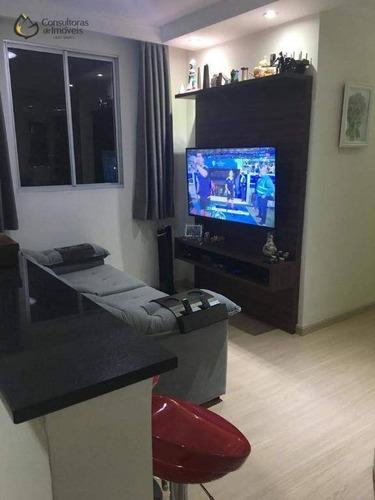 Apartamento Com 3 Dormitórios À Venda, 64 M² Por R$ 350.000,00 - Residencial Spazio Poeme - Paulínia/sp - Ap0453