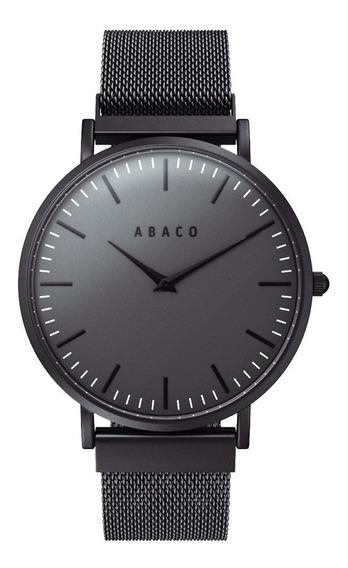 Reloj Abaco Ejecutivo Unisex Formal De Vestir Negro Premium
