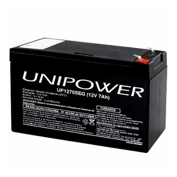 Bateria Unipower 12v 7,0ah F187(up1270seg)ot