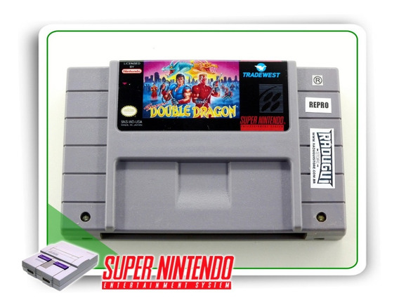 Super Double Dragon Original Super Nintendo Snes - Repro