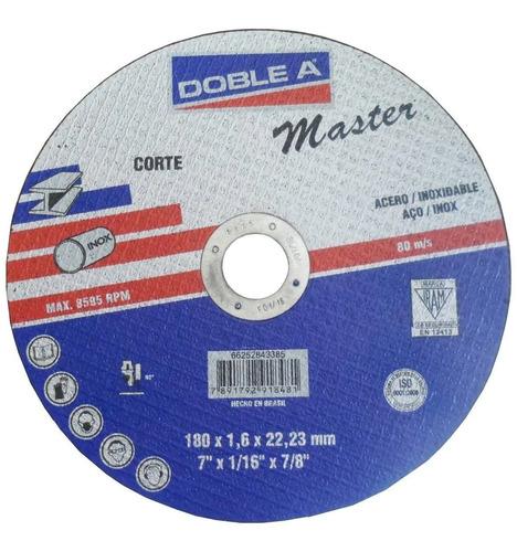 Disco De Corte Recto Master Acero 115x1,6 Doble A Mm