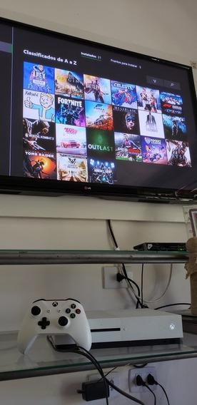 Xbox One S 1 Tb + 1 Controle Sem Fio + Jogos