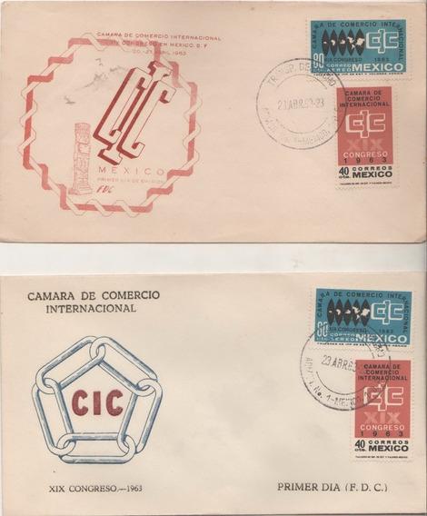 No.80- 2 Sobres Cámara De Comercio Internacional 1963