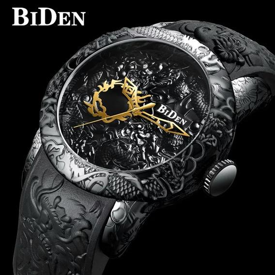 Relogio Biden B0129 Homens Casual Business Impermeável Black