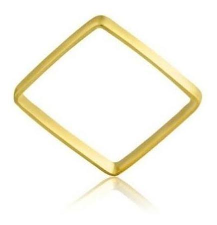 Anel Xuxa Quadrado Em Ouro 18kl 1 Grama