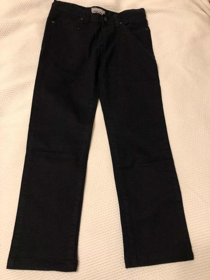 Pantalón De Gabardina Negra. Marca Old Navy. T 14. Regular