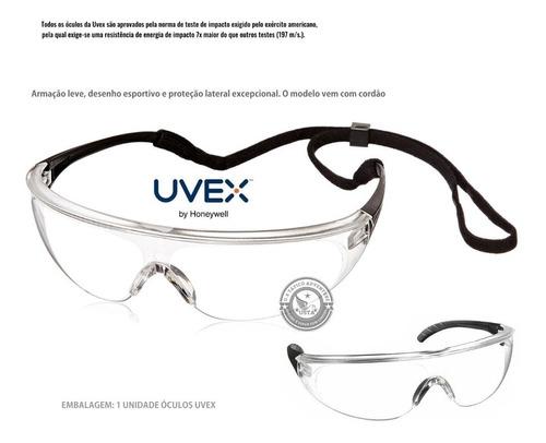 Óculos Uvex Proteção Visão Millen Sport Antiembaçante C/tira