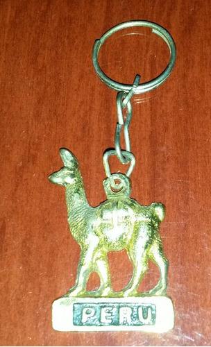 Chaveiro Do Peru De Metal De Uma Lhama