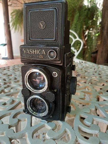 Câmera Antiga Yashica Mat 124g