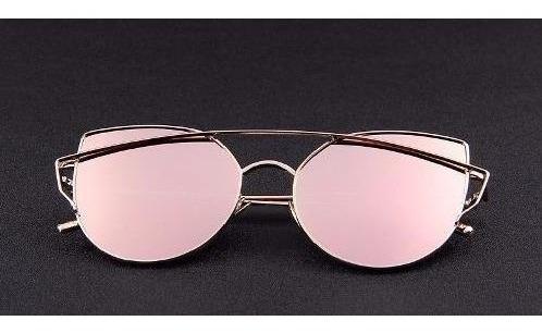 Óculos Espelhado Rosa Feminino Modelo Gatinho Original