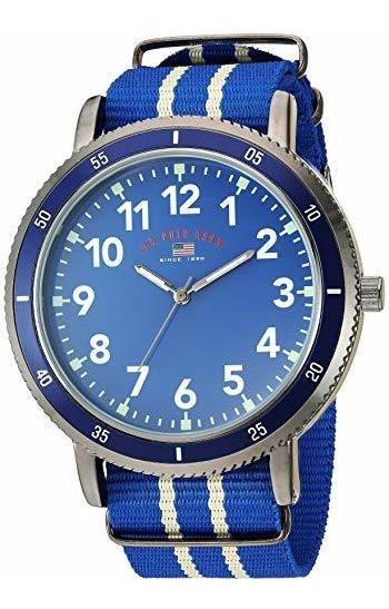 Polo Assn. Reloj De Cuarzo Para Hombre De Acero Inoxidable C