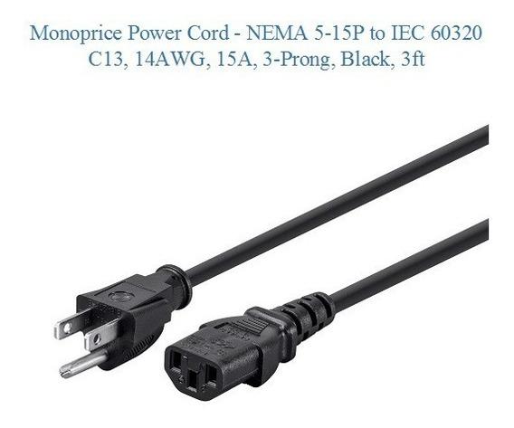 Cable De Alimentación Antminer Monoprice 14awg-220v-15amp