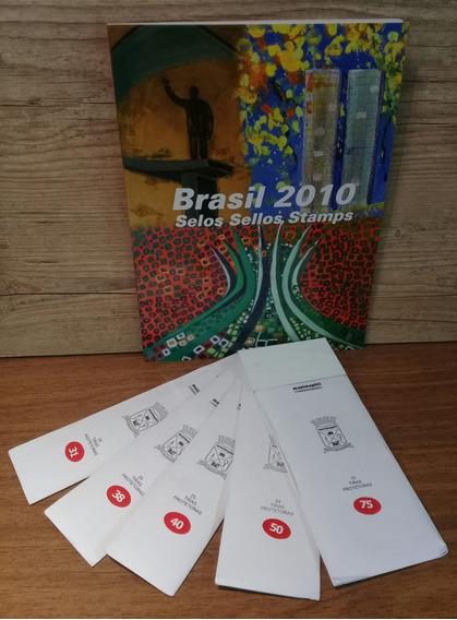 Kit Selos Ano Completo 2010 + 5 Envelopes Hawid Tam Diver