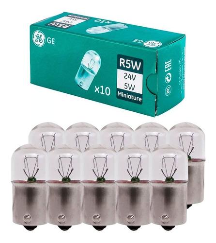 10 Lâmpada Caminhão Standard R5w 24v Ba15s Sinalização