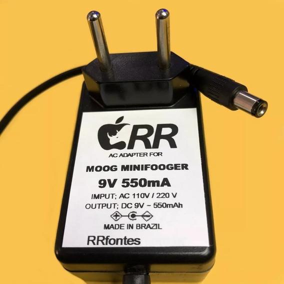 Fonte Carregador 9v 550ma Pedal Moog Overdrive Minifooger
