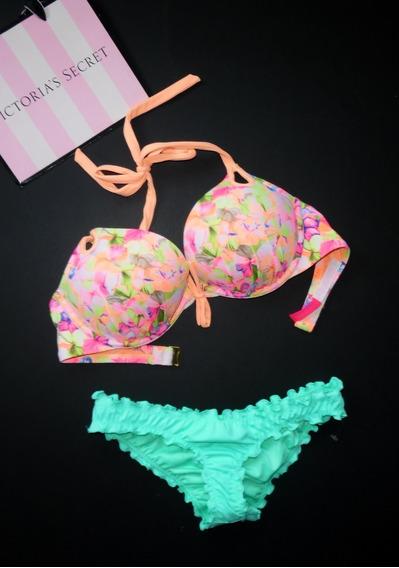 Victorias Secret & Shade Bra Bikini Extra Push Up 32d Xs