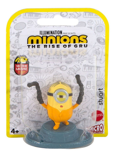 Mini Figura Stuart - Minions 2- A Origem De Gru - Mattel